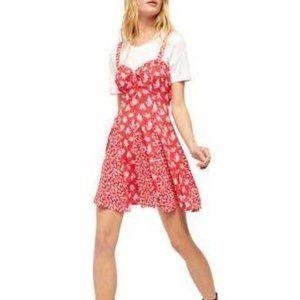 Free People Don't Dare Mixed Print Slip Dress